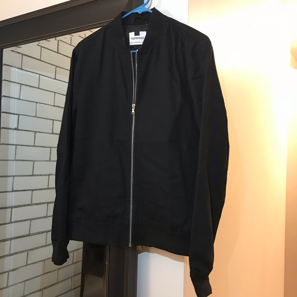 320361024 Topman Men's Bomber Jacket (Black, Size M)